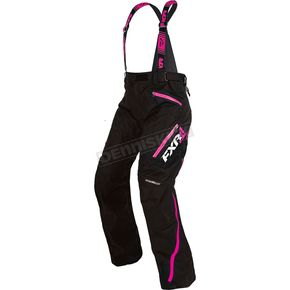 FXR Racing Women's Black/Electric Pink Vertical Pro Pants - 170304-1094-04