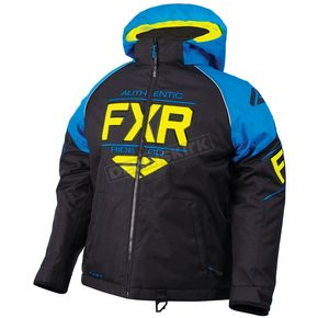 FXR Racing Child's Black/Blue/Hi-Vis Clutch Jacket - 180411-1040-06