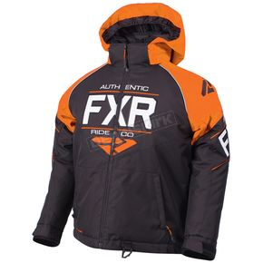 FXR Racing Child's Black/Orange/White Clutch Jacket - 180411-1030-06