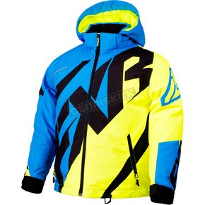 FXR Racing Youth Blue/Hi-Vis/Black CX Jacket - 180402-4065-16