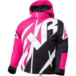 FXR Racing Child's Fuchsia/Black/White Weave CX Jacket - 180415-9010-02