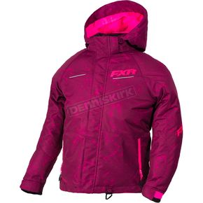 FXR Racing Youth Wineberry Track/Electric Pink Fresh Jacket - 180401-8594-16