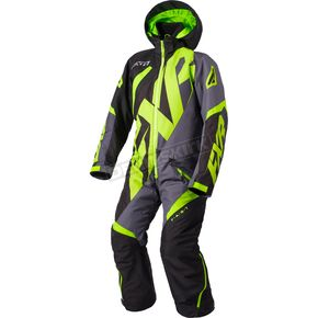 FXR Racing Youth Black/Charcoal/Lime  CX Monosuit - 183001-1070-12