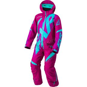 FXR Racing Youth Wineberry/Mint CX Monosuit - 183001-8552-12