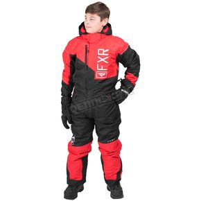 FXR Racing Youth Red/Black.White Squadron Monosuit - 173000-2010-16