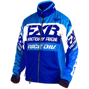FXR Racing Blue/Navy/White Cold Cross Race Ready Jacket - 180032-4045-07