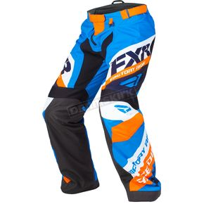 FXR Racing Blue/Orange/Black/White Cold Cross Race Ready Pants - 180115-4030-16