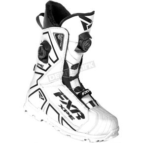 FXR Racing White/Black Elevation Lite Pro Dual Zone Boa Boots - 180702-0110-45