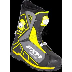 FXR Racing Black/Hi-Vis Tactic Dual Zone Boots - 180700-1065-46