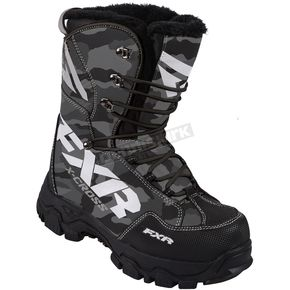 FXR Racing Gray Urban Camo X-Cross Lace Boots - 16508.20010