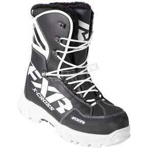 FXR Racing Black/White X-Cross Lace Boots - 180705-1001-41