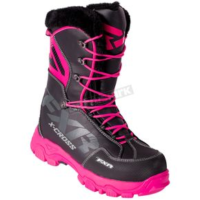 FXR Racing Women's Black/Fuchsia X-Cross Lace Boots - 180705-1090-42