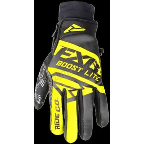 FXR Racing Black/H-Vis Boost Lite Glove - 180809-1065-22