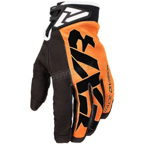 FXR Racing Orange/Black Cold Cross Race Adjustable Glove - 173343-3010-16