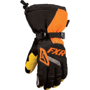 FXR Racing Black/Orange CX Gloves - 15607.30110