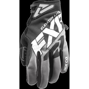 FXR Racing Black/Charcoal/White Elevation Lite Gloves - 180810-1008-13