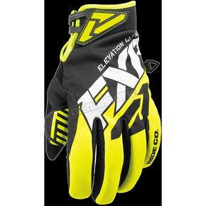 FXR Racing Black/Hi-Vis/White Elevation Lite Gloves - 180810-1065-19