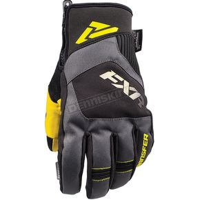 FXR Racing Black/Hi-Vis Transfer Short Cuff Glove - 180807-1065-16
