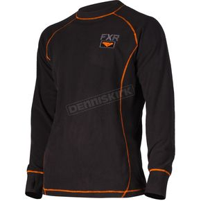 FXR Racing Black Pyro Thermal Long Sleeve Top - 181323-1030-22