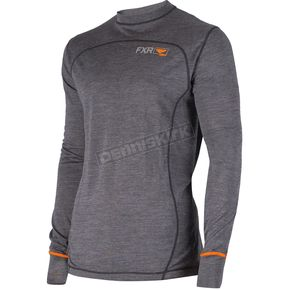 FXR Racing Charcoal 100% Merino Vapour Long Sleeve Shirt - 181316-0830-22