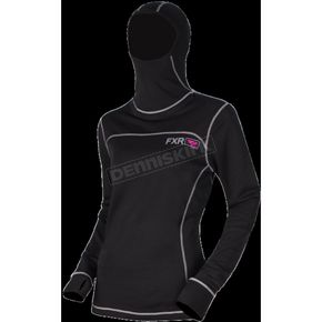 FXR Racing Women's 20% Merino Vapour Balaclava Long Sleeve Shirt - 181416-1090-10