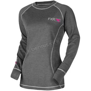 FXR Racing Women's 50% Merino Vapour Long Sleeve Shirt - 181414-0890-10
