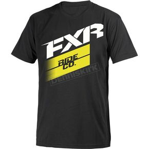 FXR Racing Black/Hi-Vis Boost T-Shirt - 181314-1065-16