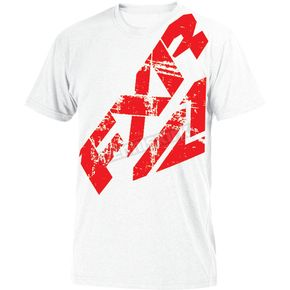 FXR Racing White/Red Broadcast T-Shirt - 181309-0120-13