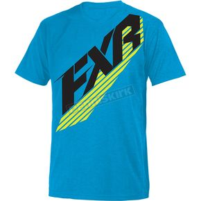 FXR Racing Blue/Hi-Vis CX T-Shirt - 181315-4065-10
