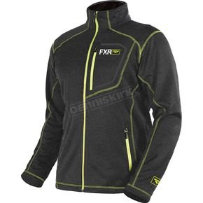 FXR Racing Charcoal Heather /Hi-Vis Elevation Tech Zip Up - 181100-0665-16