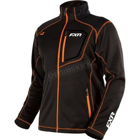FXR Racing Black/Orange Elevation Tech Zip Up - 181100-1030-13