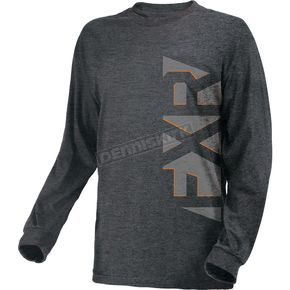 FXR Racing Charcoal Heather/Gray Evo Long Sleeve Shirt - 181310-0605-19