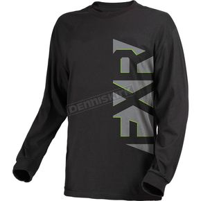 FXR Racing Black/Gray Evo Long Sleeve Shirt - 181310-1005-16
