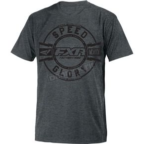 FXR Racing Charcoal/Black Freedom T-Shirt - 181306-0610-19
