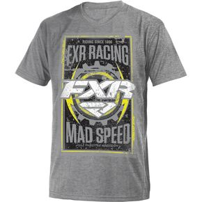FXR Racing Gray Heather/Hi-Vis Mad Speed T-Shirt - 181302-0765-13