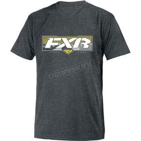 FXR Racing Charcoal Heather/Hi-Vis Premium T-Shirt - 181303-0665-16