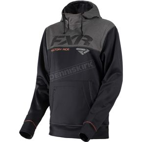 FXR Racing Black/Charcoal Heather Pursuit Tech Pullover Hoody - 181102-1006-16