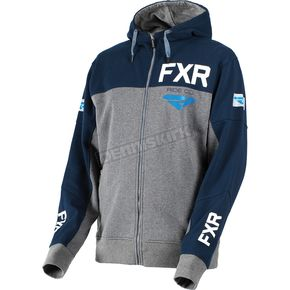 FXR Racing Gray Heather/Navy Ride Co. Hoody - 181111-0745-16