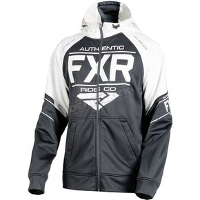FXR Racing Black/White Ride Tech Hoody - 181110-1001-10