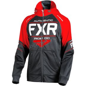 FXR Racing Black/Red Ride Tech Hoody - 181110-1020-19