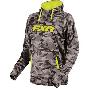 FXR Racing Gray Urban Camo/Hi-Vis Signature Tech Pullover Hoody - 170918-0665-13