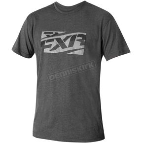 FXR Racing Charcoal/Gray Throttle Tech T-Shirt - 172003-0810-10