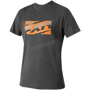 FXR Racing Charcoal/Orange Throttle Tech T-Shirt - 172003-0830-16