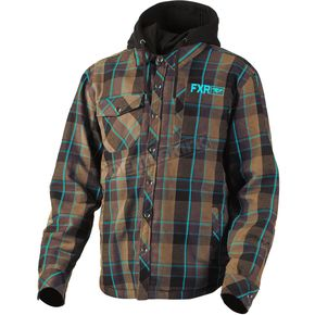 FXR Racing Brown/Blue Timber Plaid Insulated Jacket - 181107-1540-10