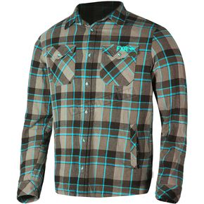FXR Racing Brown/Blue Timber Plaid Shirt - 181106-1540-19