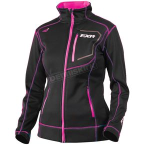 FXR Racing Women's Black/Fuchsia Elevation Tech Zip-Up - 181002-1090-16
