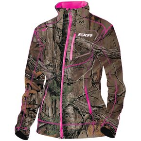 FXR Racing Women's Realtree Xtra/Fuchsia Elevation Tech Zip-Up - 181002-1690-16