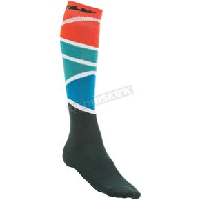 Fly Racing Youth Red/Blue Thick MX Socks - 350-0421Y