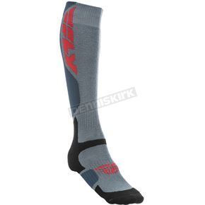 Fly Racing Gray MX Pro Thick Socks - 350-0400S