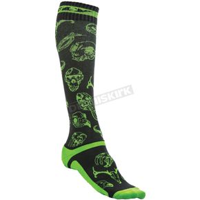 Fly Racing Green/Black MX Pro Thin Socks - 350-0415L